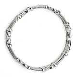 Mixed Pattern Bracelet in Premium Stainless Steel