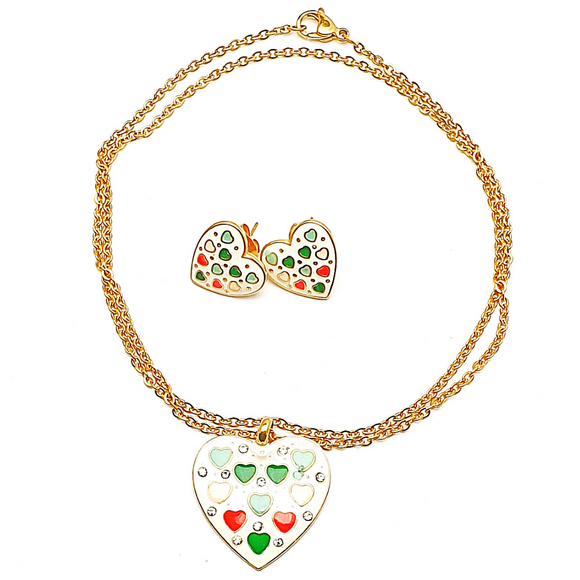 Heart Enamel Set