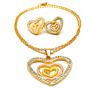 Picturesque Heart and Crystal Set