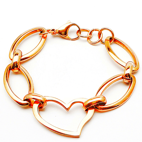 Hearts and Oval Bracelet