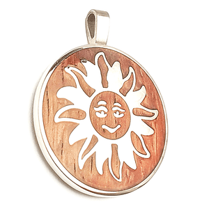 Smiling Glow Medallion Pendant (Brown)