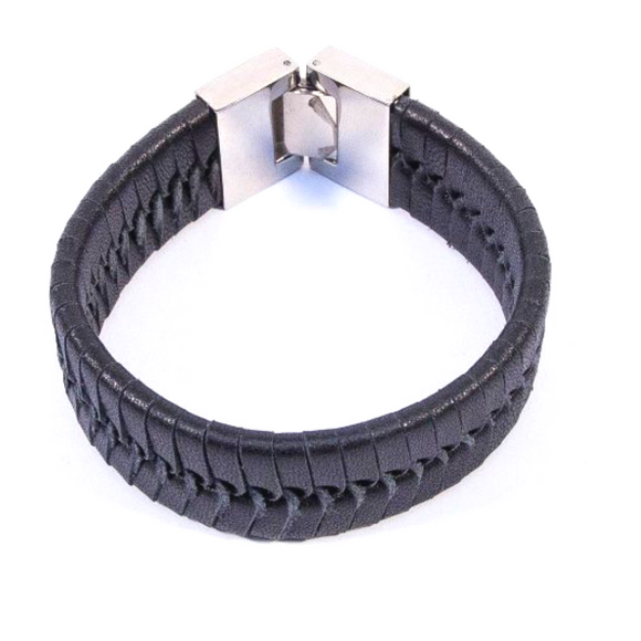 Vintage Weave Bangle (Black Medium)