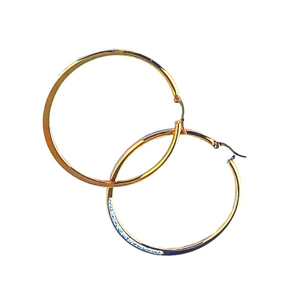Crystal Row Hoop Earrings