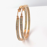 Crystal Inlay Hoop Earrings
