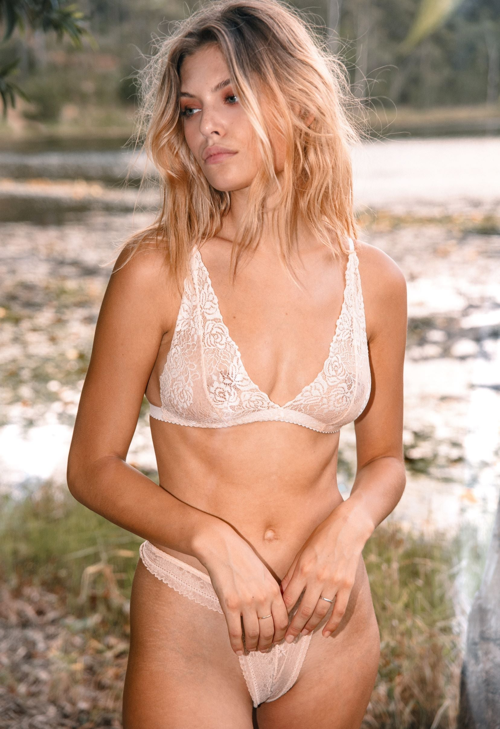 Drina Bralette in Peachy Rose - Made to Order