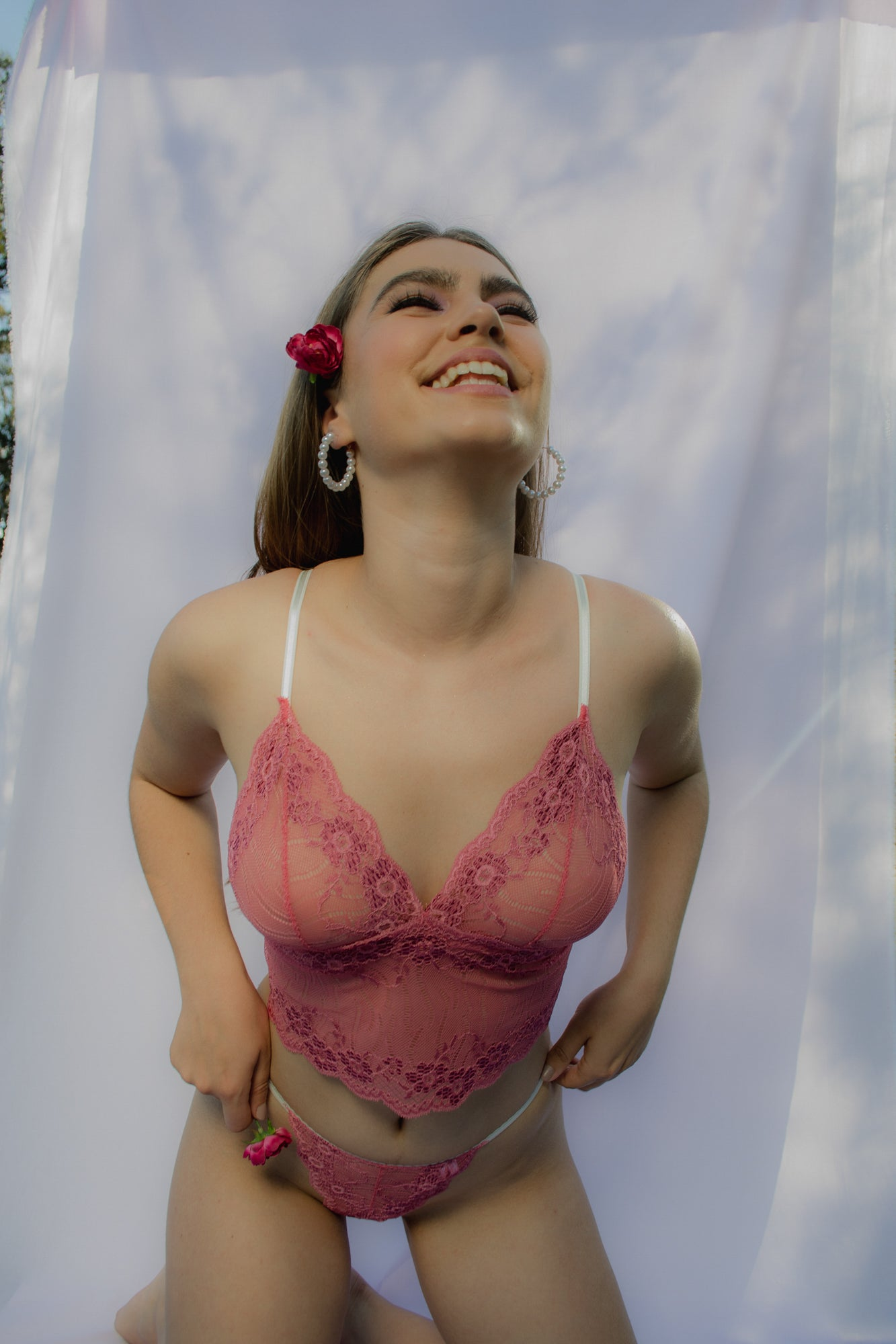 Equinox longline bralette in berry front