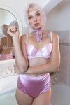 pink satin high waist briefs