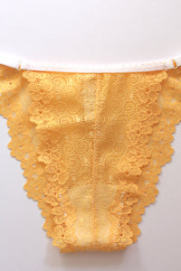 Yellow lace underwear