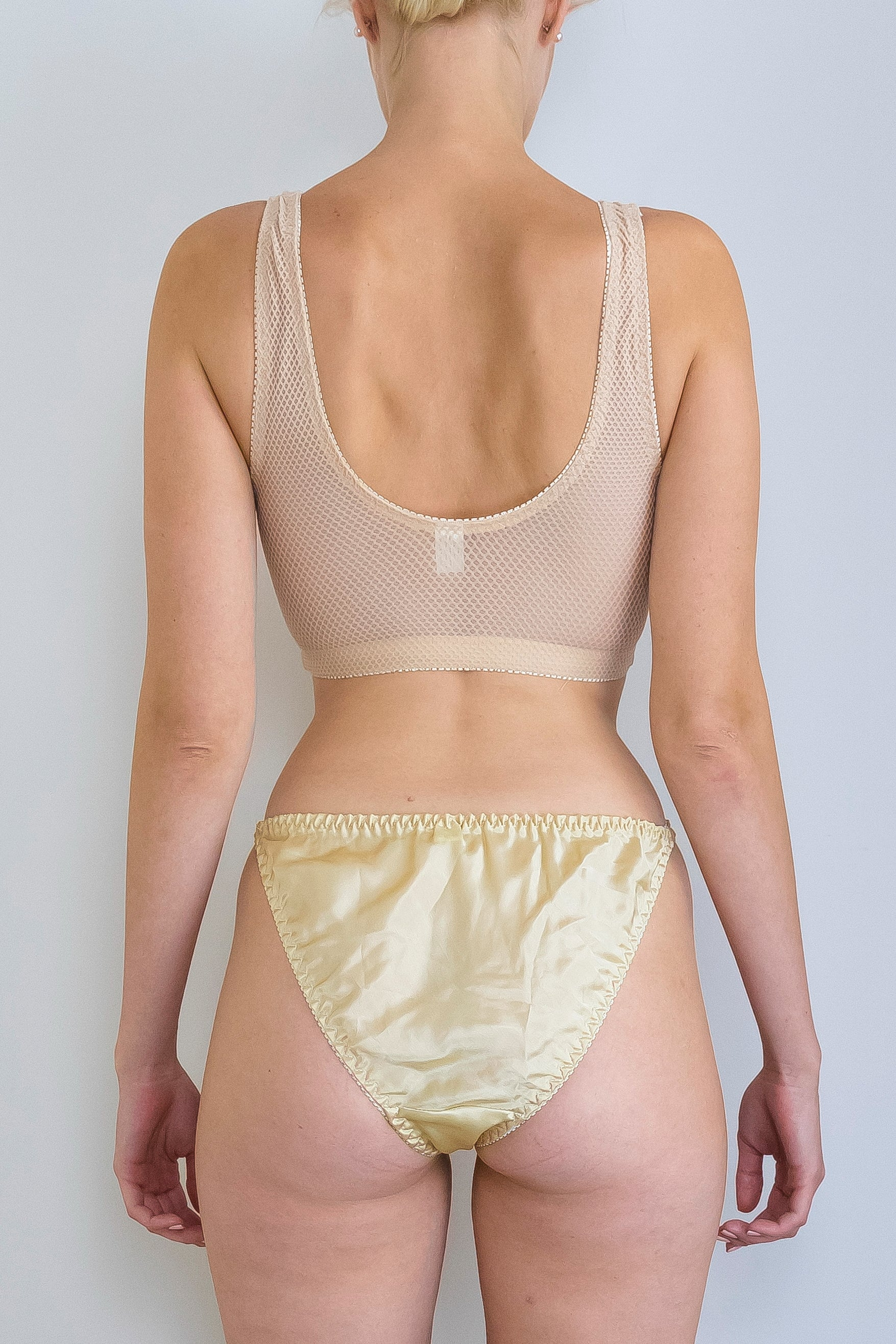 gold silk brief