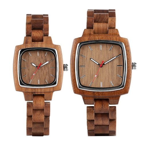 Retro Square Walnut Watches - TimesGent