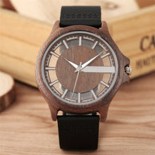 Load image into Gallery viewer, Wood Leather Watch - TimesGent