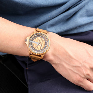 Wood Leather Watch - TimesGent