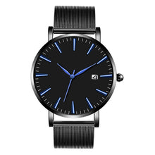 Load image into Gallery viewer, Black & Blue Watch<br>40mm