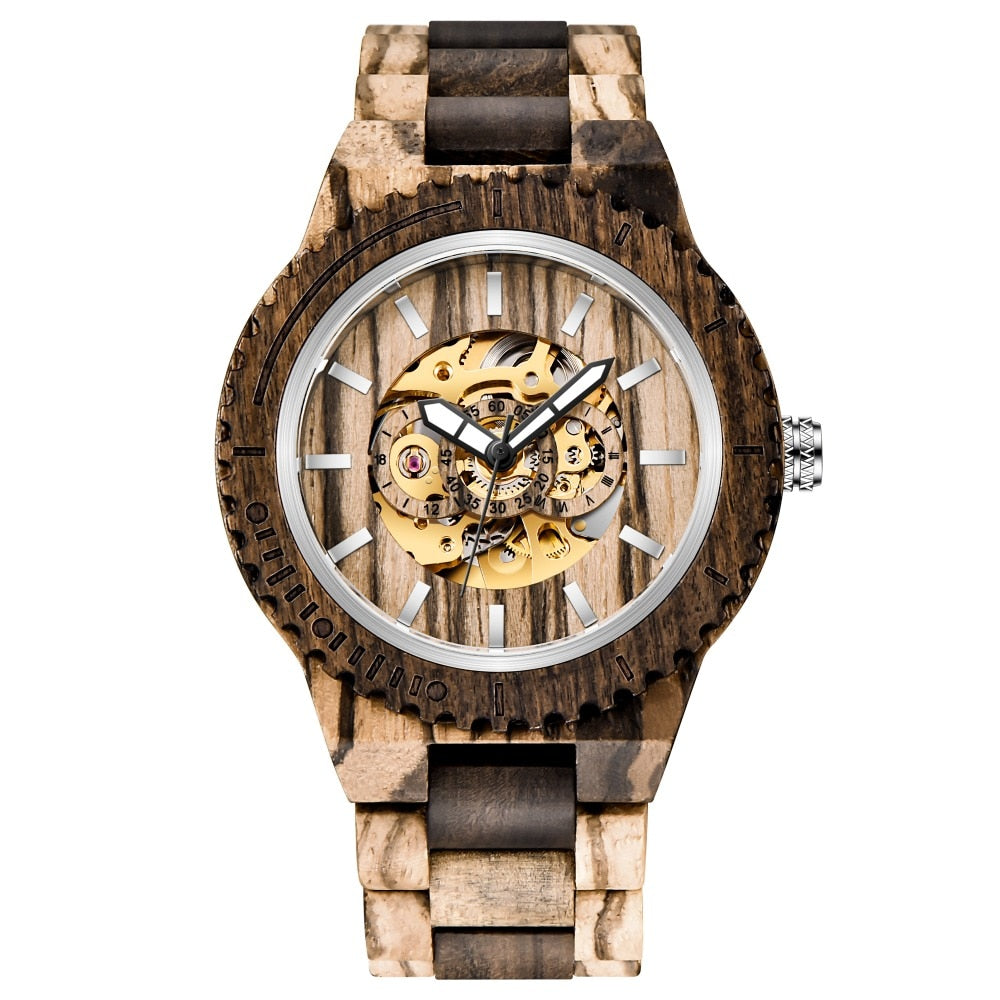 Wood Mechanism Watch - TimesGent