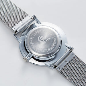 Silver Marble Watch - TimesGent