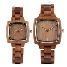 Load image into Gallery viewer, Retro Square Walnut Watches - TimesGent