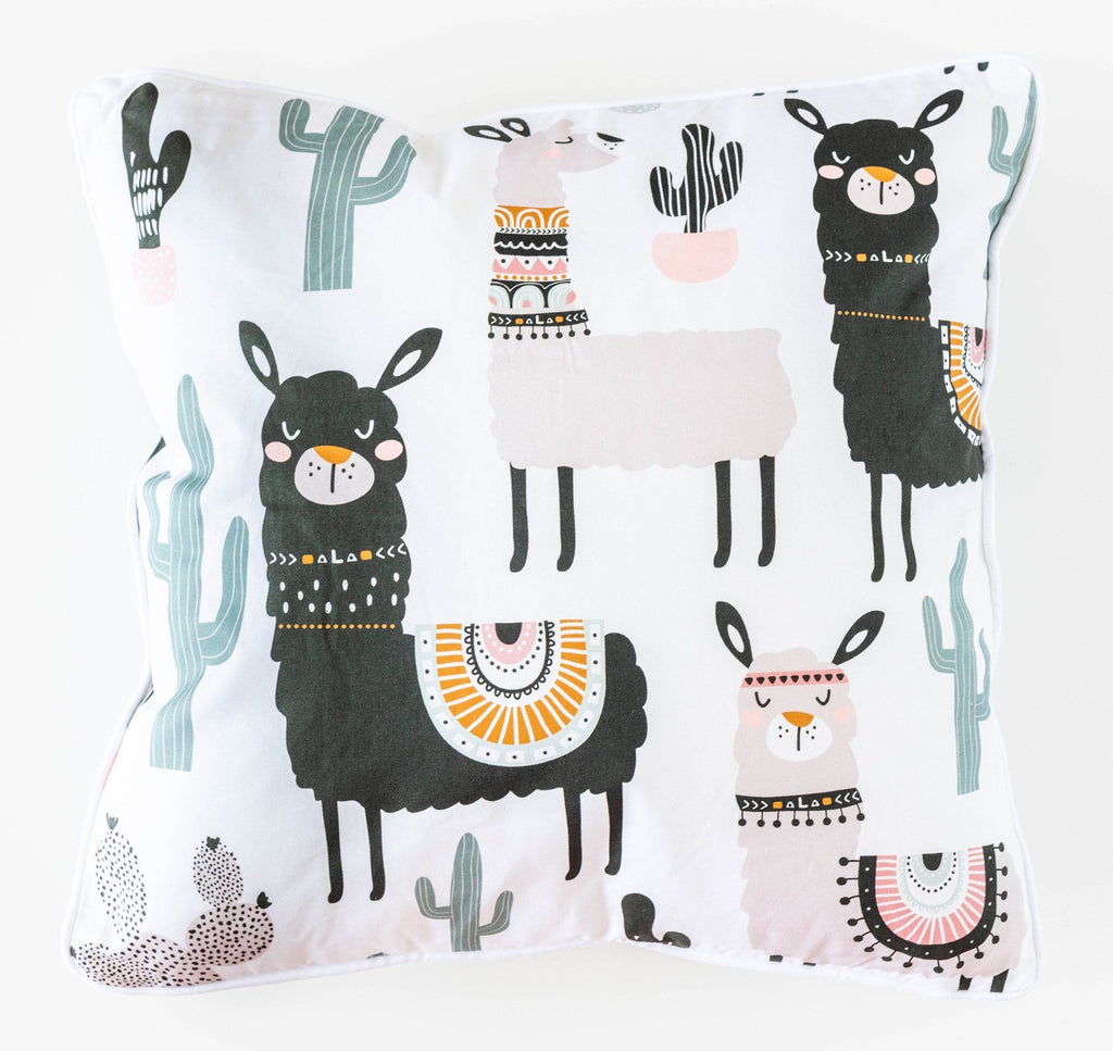 Cactus Llama Cushion Soft Furnishings - Dusty Sea