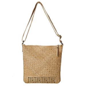 Cleo Woven Bag Leather Goods - Dusty Sea