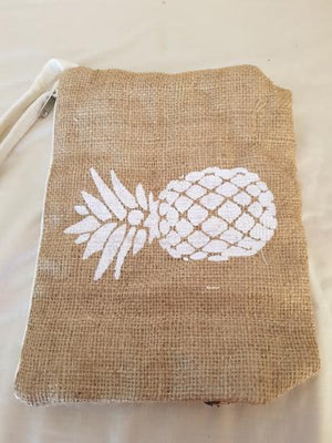 Fabric Clutches Bags and Purses Pineapple - Dusty Sea