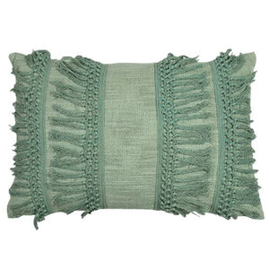 Fern Green Lumbar Cushion Soft Furnishings - Dusty Sea