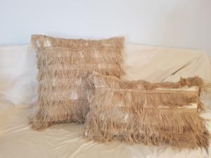 Fringe Cushions Soft Furnishings - Dusty Sea