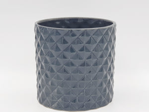 Glazed Diamond Planters planters Dark Grey - Dusty Sea