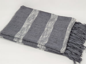 Graphite Throw Soft Furnishings - Dusty Sea