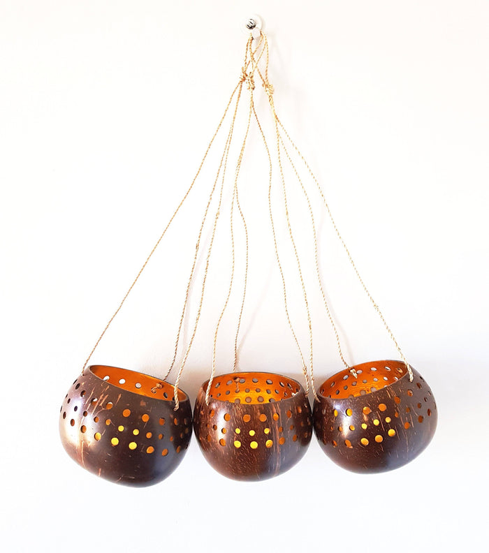 Hanging Gold Coconut Bowls