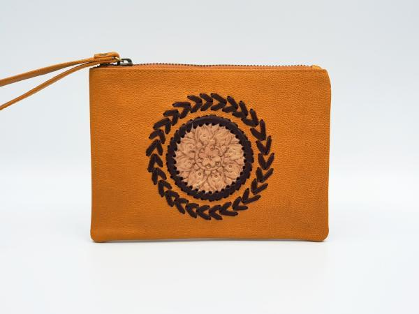 Indie Bohemian Leather Clutch