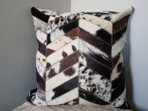 Jersey Chevron Cushion Soft Furnishings - Dusty Sea