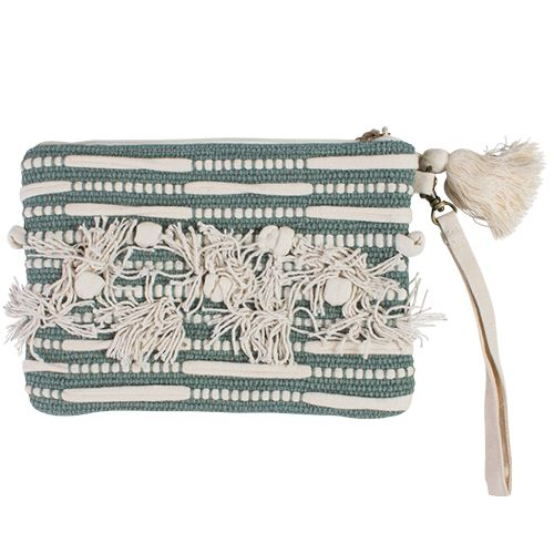 Kensi Bohemian Clutch Bags and Purses - Dusty Sea
