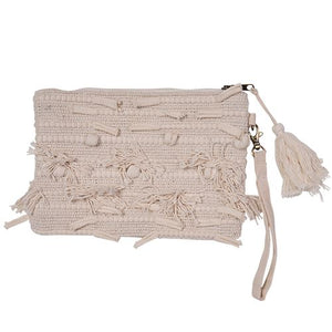 Lilah Bohemian Clutch Bags and Purses - Dusty Sea