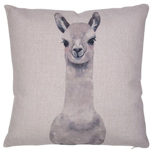 Llama Cutness Cushion Soft Furnishings - Dusty Sea