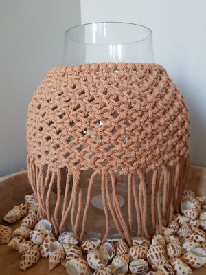 Macrame Vase Coral Home Decor - Dusty Sea