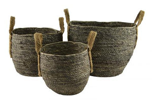 Maize Baskets With Handles Baskets - Dusty Sea