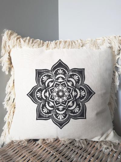 Mandala Cushion Soft Furnishings - Dusty Sea