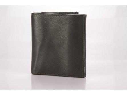 Men's Black Tri Fold Wallet Leather Goods Black - Dusty Sea