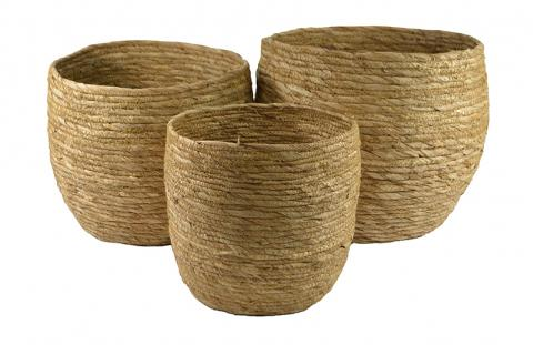 Natural Bell Maize Basket Baskets - Dusty Sea