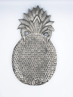 Pineapple Plate Home Decor - Dusty Sea
