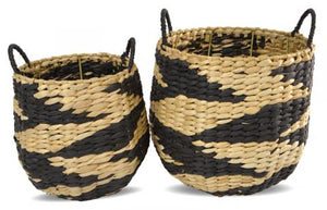 Piper Woven Baskets Baskets - Dusty Sea
