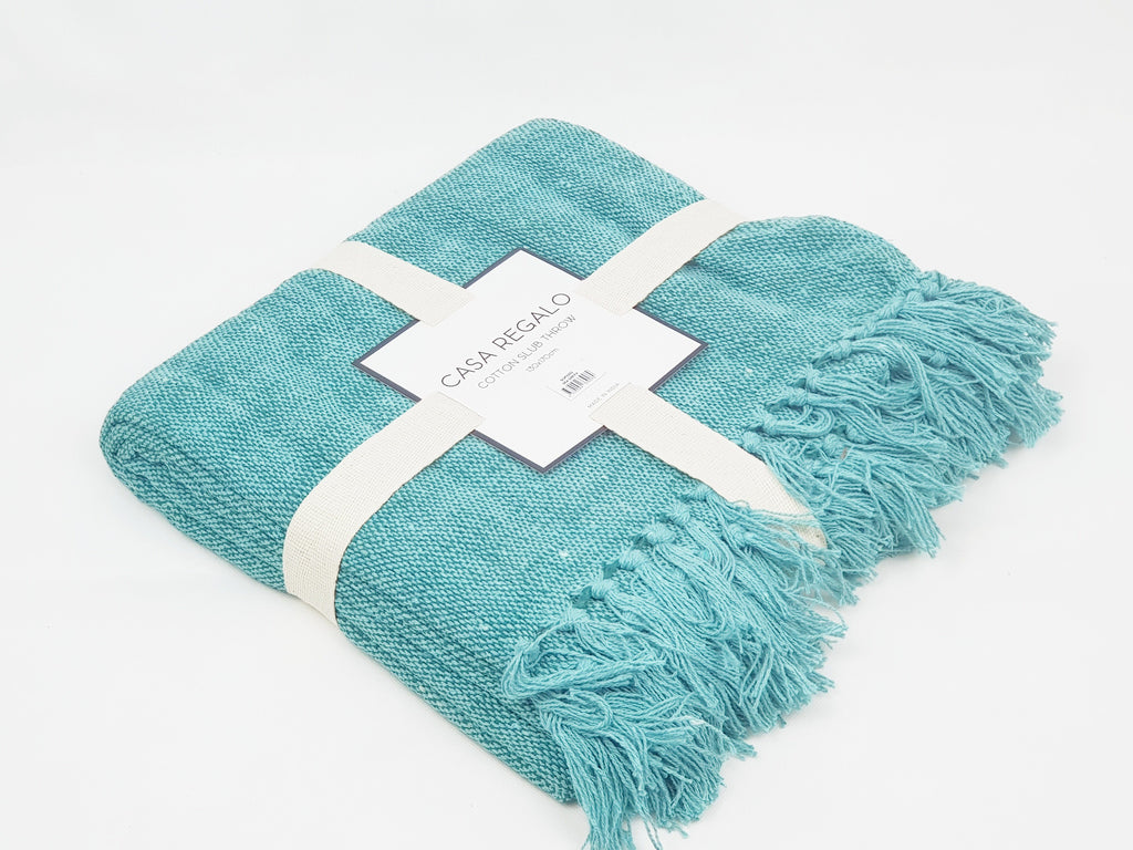 Sea Foam Throw Soft Furnishings - Dusty Sea