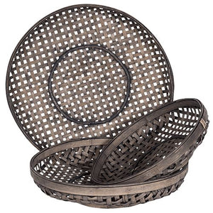 Sienna Woven Cane Baskets Wall Decor - Dusty Sea