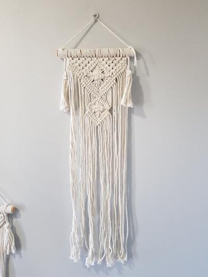 Small Macrame Wall Hanging Wall Decor Style A - Dusty Sea