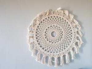 Sunburst Macrame Style B Wall Decor - Dusty Sea