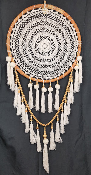Tikka White Dream Catcher Home Decor - Dusty Sea