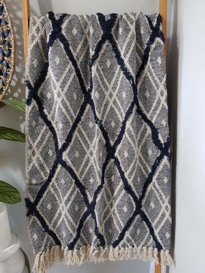 Topaz Dark Blue throw