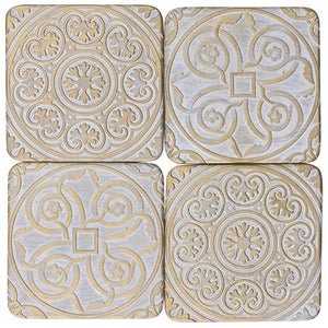 Victoria Coaster set of 4 Home Decor - Dusty Sea