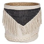 Vinnie Fringe Basket Baskets - Dusty Sea