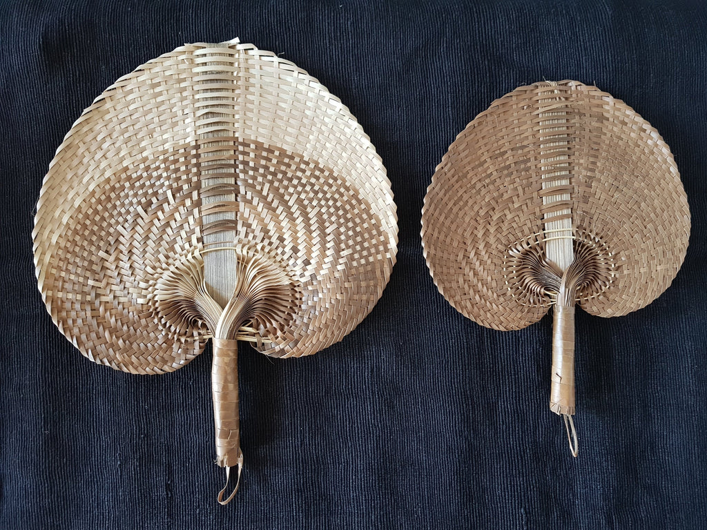 Woven Fans Home Decor - Dusty Sea
