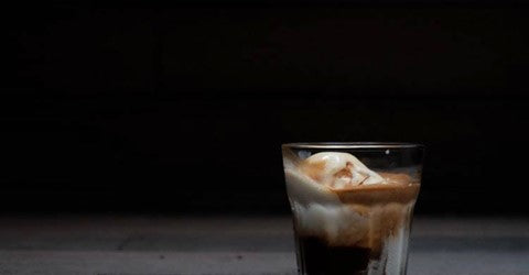 coffee affogato, coffee dessert, espresso